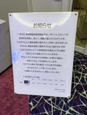 愛知県非等価移行確定の看板