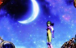 パチスロ 聖闘士星矢SP 通常時の演出 シャイナ夜空演出